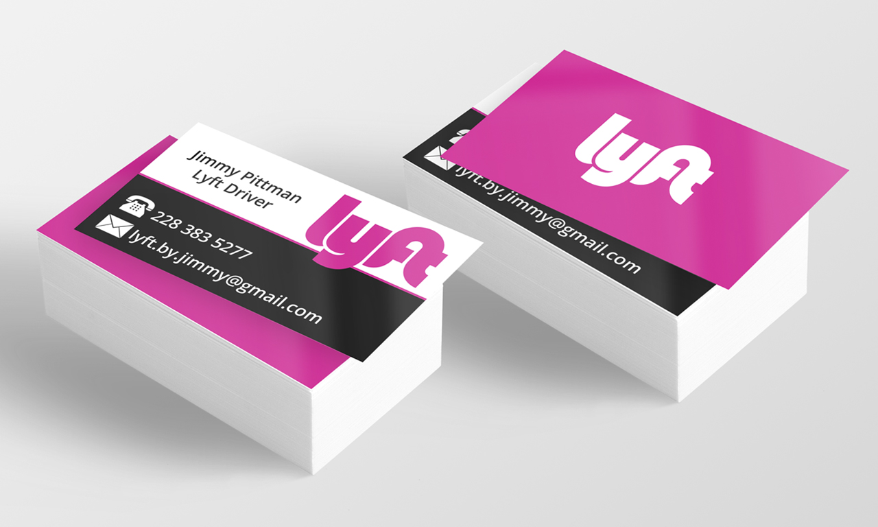 lyft driver business cards. Black Bedroom Furniture Sets. Home Design Ideas